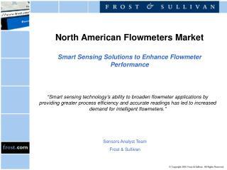 North American Flowmeters Market Smart Sensing Solutions to Enhance Flowmeter Performance
