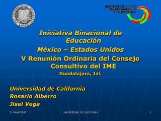 Iniciativa Binacional de Educación  México – Estados Unidos