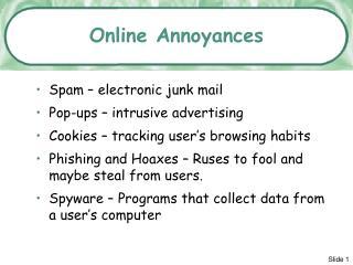 Online Annoyances
