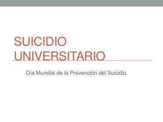 Suicidio Universitario