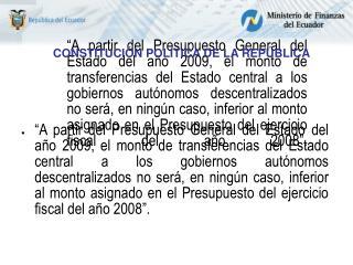 CONSTITUCI�N POL�TICA DE LA REP�BLICA