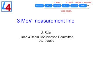 3  MeV  measurement line