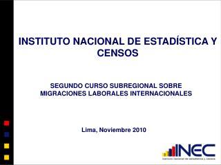 Lima, Noviembre 2010