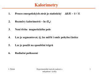 Kalorimetry