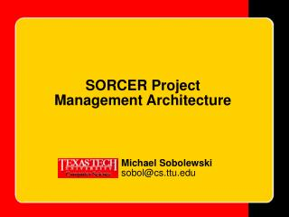 SORCER Project Management Architecture