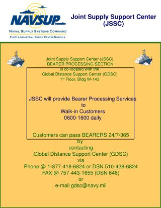 Joint Supply Support Center (JSSC)