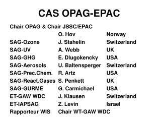CAS OPAG-EPAC