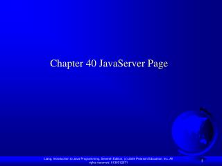 Chapter 40 JavaServer Page