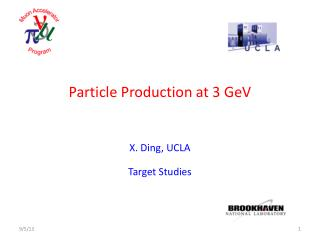 Particle Production at 3 GeV