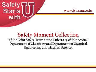 Have a safety moment? Contribute it to this collection.