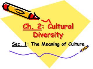 Ch. 2 : Cultural Diversity