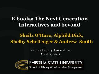 E-books: The Next Generation Interactives and beyond