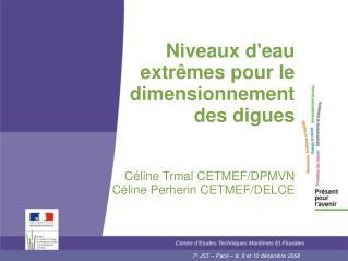 Niveaux d'eau extrêmes pour le dimensionnement  des digues Céline Trmal CETMEF/DPMVN
