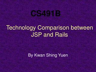 Technology Comparison between JSP and Rails