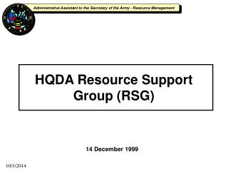 HQDA Resource Support Group (RSG)