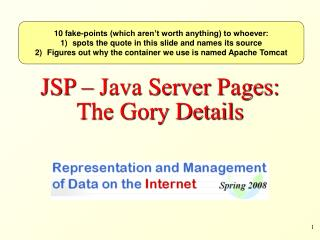 JSP – Java Server Pages: The Gory Details
