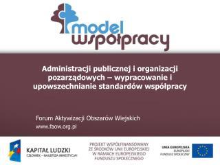 Forum Aktywizacji Obszarów Wiejskich faow.pl