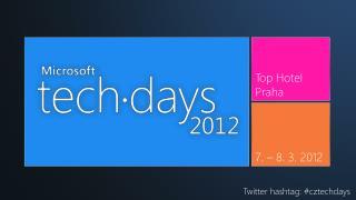 Twitter hashtag: #cztechdays