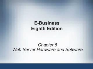 E-Business Eighth Edition