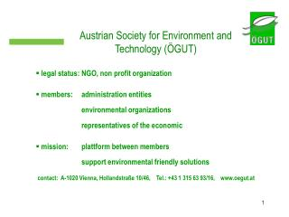 Austrian Society for Environment and Technology (�GUT)