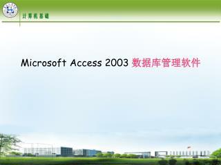 Microsoft Access 2003  数据库管理软件