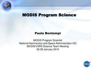 MODIS Program Science