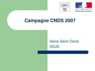 Campagne CNDS 2007