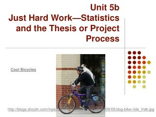 Unit 5b Just Hard Work—Statistics and the Thesis or Project Process
