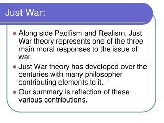 Just War: