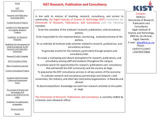 KIST Research, Publication and Consultancy