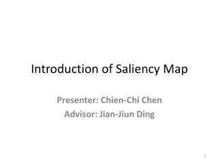 Introduction of Saliency Map