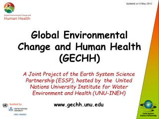 Global Environmental Change and Human Health (GECHH)