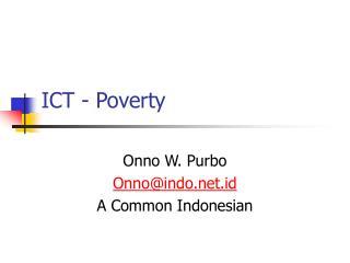 ICT - Poverty