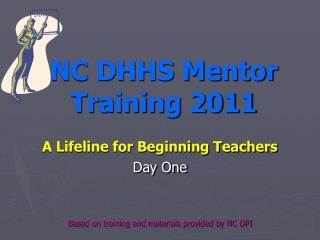 NC DHHS Mentor Training 2011