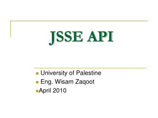 JSSE API