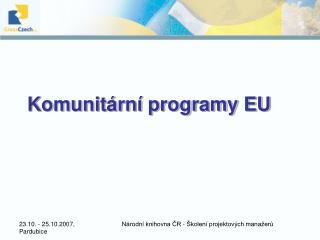 Komunitární programy EU