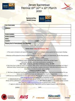 Entries close:  Friday 19 th  February  2010
