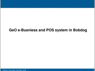 GeO e-Busniess and POS system in Bobdog