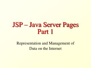 JSP – Java Server Pages Part 1