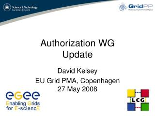 Authorization WG Update