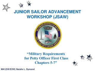 JUNIOR SAILOR ADVANCEMENT WORKSHOP (JSAW)