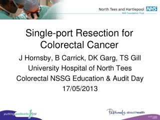 Single-port Resection for Colorectal Cancer