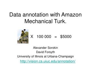 Data annotation with Amazon Mechanical Turk.