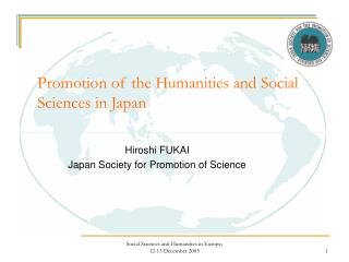 Promotion of the Humanities and Social Sciences in Japan