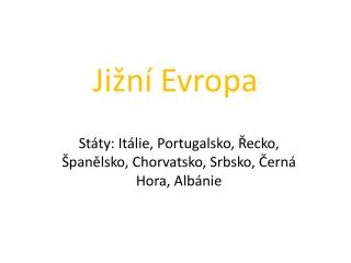 Ji�n� Evropa