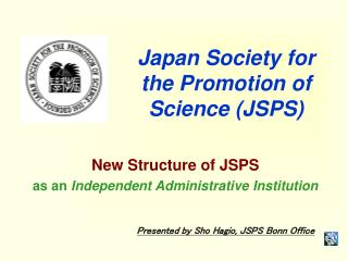 Japan Society for the Promotion of Science (JSPS)