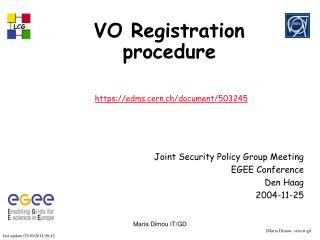 VO Registration procedure