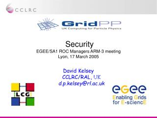 Security EGEE/SA1 ROC Managers ARM-3 meeting Lyon, 17 March 2005
