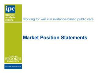 Market Position Statements