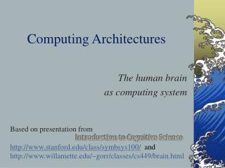 Computing Architectures